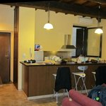 Another view of the kitchen and dining area