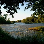 The beautiful Maumee River behind The Mill House