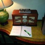 Radio, guest notebook