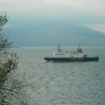 this would be a view from a room of the ferry coming from the mainland to the Isle of Bute
