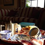 Front room: afternoon tea