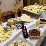 cheese display in the buffet