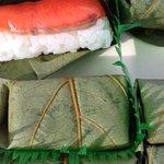 Persimmon sushi from Hiraso