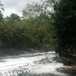 Rio que corta o parque