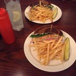 Ham & Swiss on Marble Rye w/fries (split order)