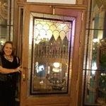 Entrando no restaurante do hotel!