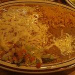 three burrito plate, many great flavors
