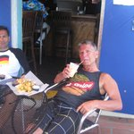 Steve and Alex at the Big Kahuna Rum Shack in St.Thomas