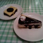 Blueberry Cheesecake and Orio Brownie