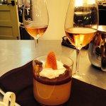 Carmelita creme with Rose. Delicious desert