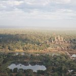 View towards Angkor Wat from the Balloon