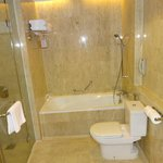 Bath, separate shower, toilet