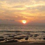 Coucher de soleil à marée montante