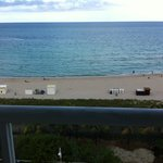 view from the balcony of oceanfront penthouse room