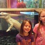 Pearl, the albino alligator and my kids.