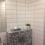 tiny bathroom of room 15