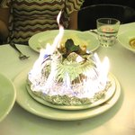 The flambe steamed seafood