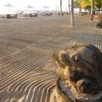 pantai yang bersih, siap menyambut tamu seharian