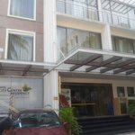 The front view of the Hotel