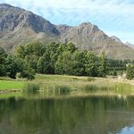 Pond with Mountains