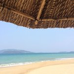 Lazy day on the beach deck chairs in front of the InterContinental Nha Trang