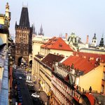 From our terrace at the Kempinski, Prague