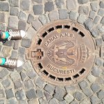 The coat of arms on manhole covers