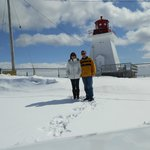 Winter drive on the Cabot Trail. Stopped for an ice cream but they were closed that day. ;-)