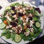 Super salad with chicken