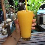 Mango shake in Tonys restaurant