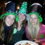 The girls celebrating St' Patricks day party