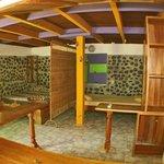 First floor room, 3 beds, a/c, shower