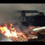 Zach firing up the grill