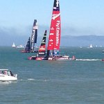 America's Cup Race as seen from Jeremiah O'Brien