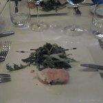 Voorgerecht gerookte zalm met asperges