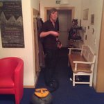 Fred, chalet manager. A.k.a Hoover boy!!