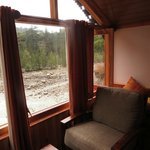 Living Area of river view cottage.. when it rained!