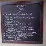 Lovely menu