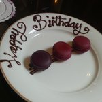 birthday macarons courtesy of the The Shelbourne