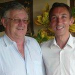 Photo sympathique avec Pierre, le propriétaire