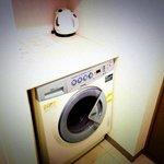 洗濯機も室内装備