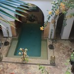 Pool in courtyard