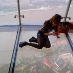 This has nothing to do with the hotel. Found it fascinating. On top of the Shanghai Pearl Tower.