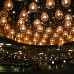 The lobby lights