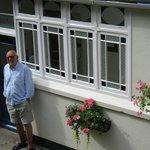Host John at Front Door