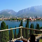 View from our balcony of Lecco