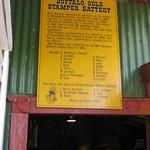 Entree sign of Stamper battery