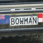 Number plate of Bowman