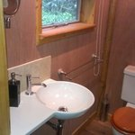 Lovely little toilet & wash basin with shaver socket & heated towel rail
