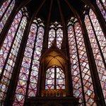 Vidrieras de la capilla superior